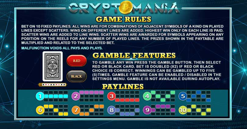 payline cryptomania slot
