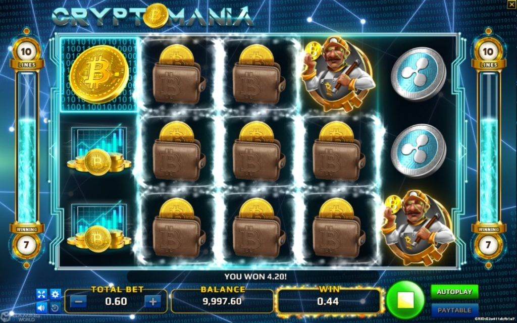tampilan game cryptomania slot