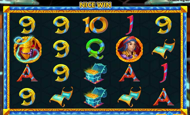 tampilan game slot golden genie